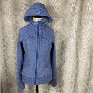 Lululemon blue striped scuba hoodie